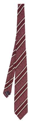 Dunhill Striped Silk Blend Tie - Mens - Burgundy