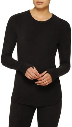 Cuddl Duds ClimateRight by Women's Stretch Fleece Warm Underwear Long Sleeve Top