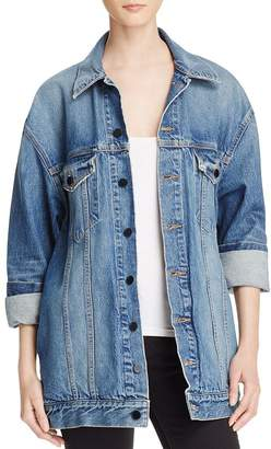 Alexander Wang Daze Denim Jacket in Light Indigo Aged