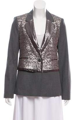 Elizabeth and James Sequined Notch-Lapel Blazer w/ Tags