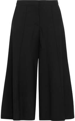 Vilshenko Larina Wool-gabardine Wide-leg Pants - Black
