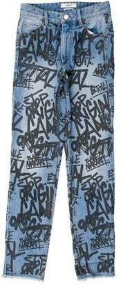 Etoile Isabel Marant Clayton Graffiti Mid-Rise Jeans