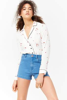 Forever 21 Stretch-Denim Shorts