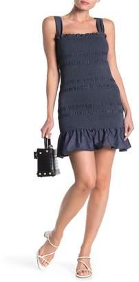 Know One Cares Ruffle Hem Smocked Sleeveless Dress