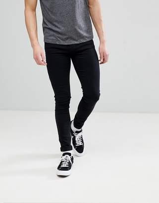 Dr. Denim Leroy Black Skinny Jeans