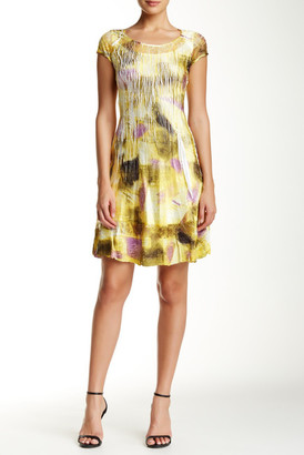 KOMAROV Cap Sleeve Charmeuse Dress $278 thestylecure.com