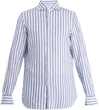 Finamore Gaeta striped linen shirt