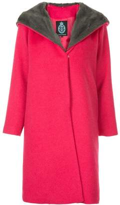 GUILD PRIME faux fur collar coat