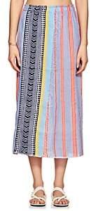 Lemlem Women's Sophia Folkloric & Striped Cotton-Blend Wrap Skirt