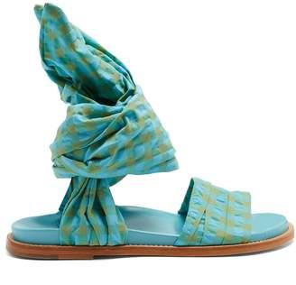 Marques Almeida MARQUES'ALMEIDA Gingham wrap sandals