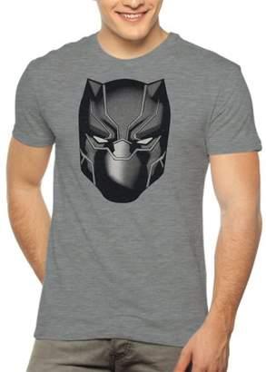 Super Heroes & Villains Marvel Black Panther Mask Men's Graphic T-shirt, up to Size 3XL