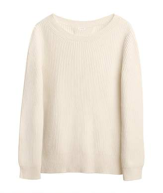 Cuyana Ribbed Open-Back Sweater