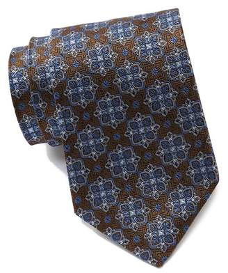David Donahue Silk Filigree Squares Tie