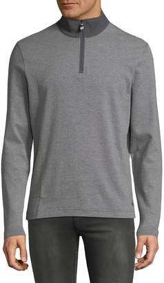 HUGO BOSS Men's Half-Zip Cotton Sweater