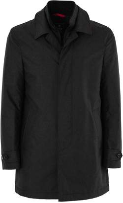 Fay Raincoat In Black High-tech Fabric.