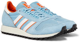 adidas Consortium Consortium - SPEZIAL Silverbirch Mesh and Suede Sneakers - Men - Light blue