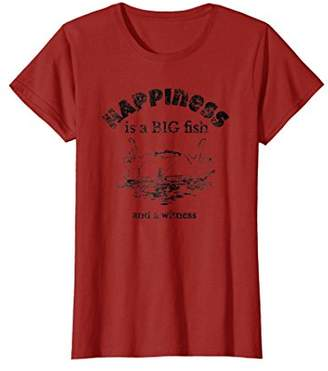 Happy Big Fish Witness Fishing Boat Lie Fathers T-Shirt