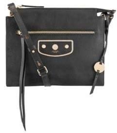 Lodis Pismo Pearl Kay Accordion Leather Crossbody Bag