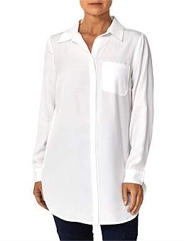 Ping Pong Longline Shirt With Side Buttons