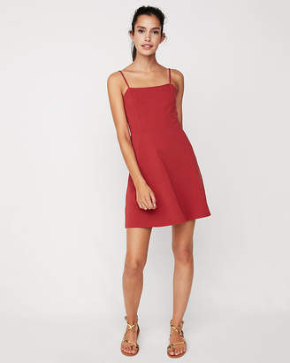 Express Adjustable Strap Fit And Flare Dress
