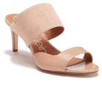 Calvin Klein Clementine Leather & Suede Sandal