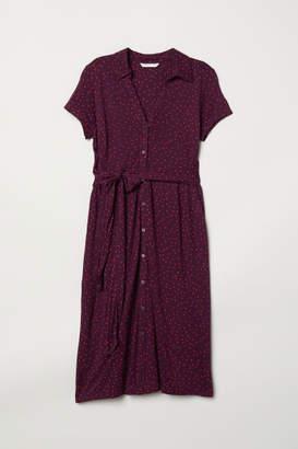 H&M MAMA Jersey Dress - Purple