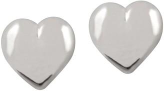 Ultrafine UltraFine Silver 10mm Heart-Shaped Button Earrings