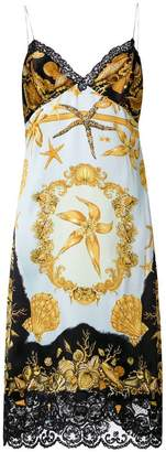 Versace Tresor de la Mer print slip dress