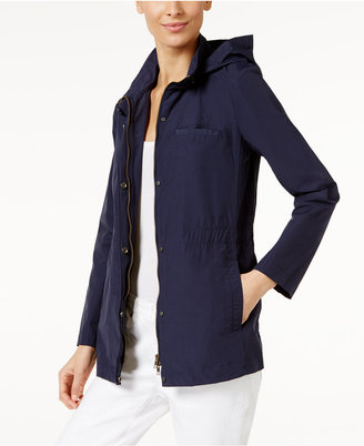 Eileen Fisher Organic Cotton-Blend Hooded Jacket, Regular & Petite $258 thestylecure.com