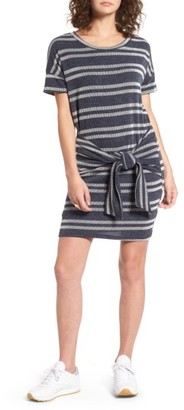 Women's Lush Tie Front Stripe Knit Dress $42 thestylecure.com