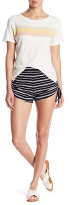 Honeybelle Honey Belle Stripe Ruched Knit Shorts