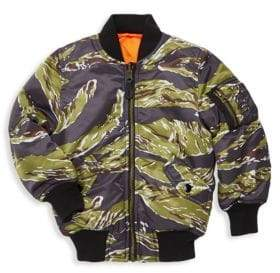 Alpha Industries Little Boy's and Boy's Tiger Camo Bomber Jacket