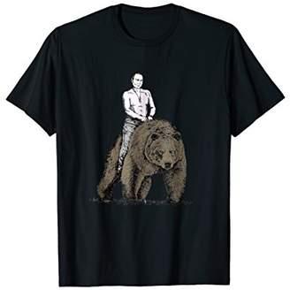 Vladimir Putin Riding A Grizzly Bear T-Shirt Men Women Kids