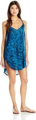 Lucky Brand Women's Batik Chic Knit Tulip Side Dress Cover up