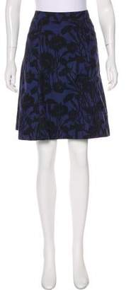 Marc by Marc Jacobs Floral Print Knee-Length Skirt