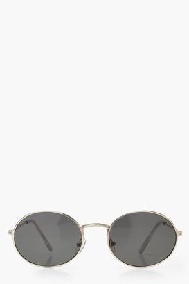boohoo Round Gold Frame Sunglasses