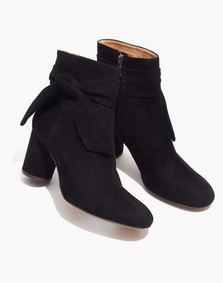 Madewell The Esme Bow Boot in Suede
