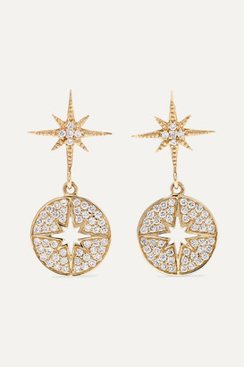 Sydney Evan Starburst 14-karat Gold Diamond Earrings