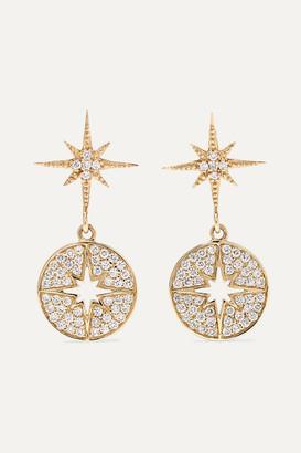 Sydney Evan Starburst 14-karat Gold Diamond Earrings