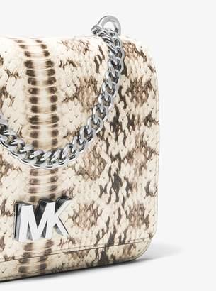 MICHAEL Michael Kors Mott Snake-Embossed Leather Crossbody