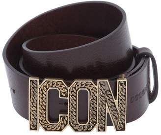 DSQUARED2 40mm Icon Buckle Leather Belt