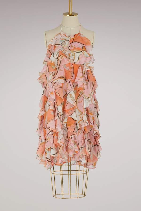Emilio Pucci Nastri ruffle dress