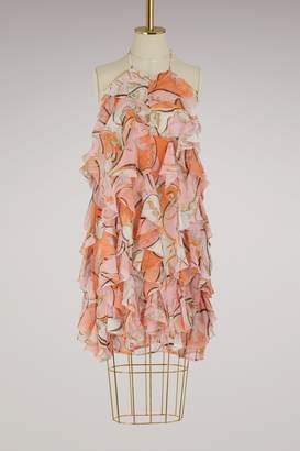 Emilio Pucci Nastri ruffles dress