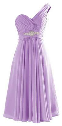 VaniaDress One Shoulder Evening Gowns Bridesmaid Prom Dresses V273LF US
