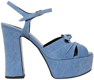 Saint Laurent 140mm Candy Denim Sandals