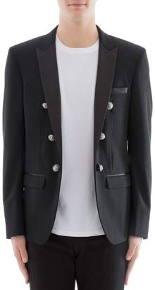 Balmain Black Wool Jacket