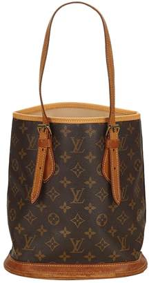Louis Vuitton Vintage Bucket Brown Cloth Handbag