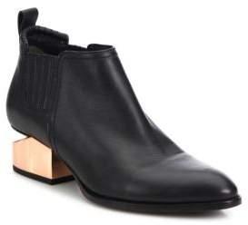 Alexander Wang Kori Metal Tilt-Heel Leather Booties