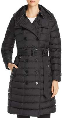Burberry Dalmerton Down Puffer Trench Coat