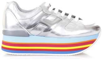Hogan Maxi H222 Metallic Leather Sneakers